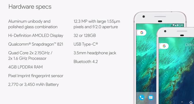 googlephonespecs